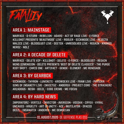 Fatality Raw Outdoor Line Up