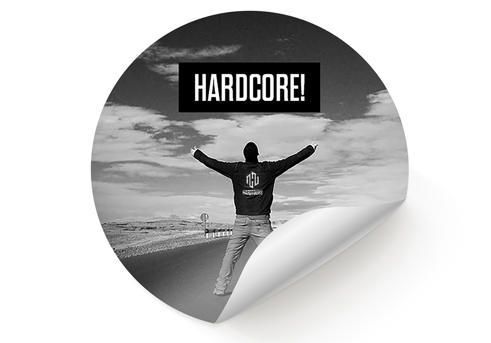 Aufkleber - Hardcore (10 Stk)