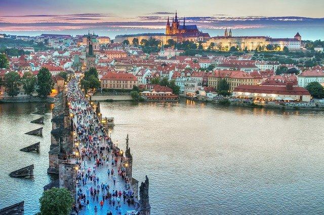 Feiern in Prag