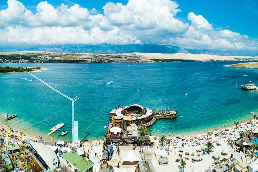 Zrce Beach Kroatien